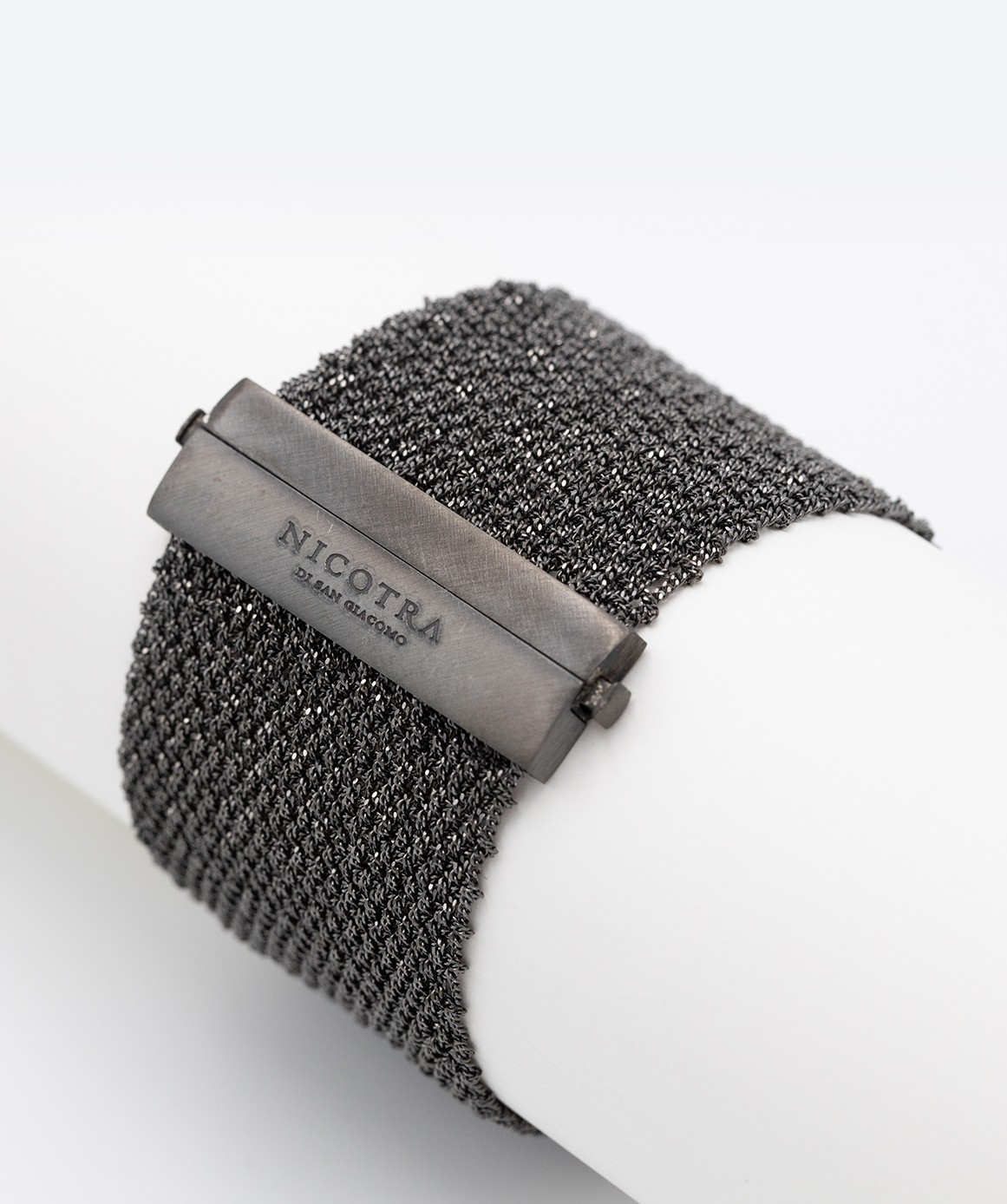 EXTRA DRY 1 CM Bracelet in Sterling Silver Ruthenium plated