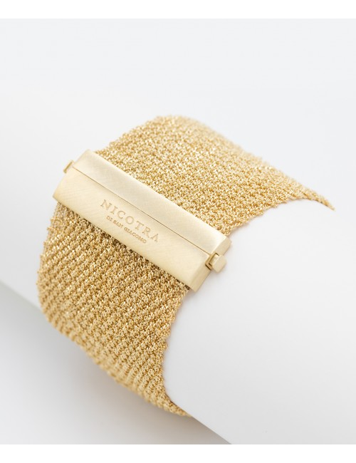 EXTRA DRY 1 CM Bracelet in Sterling Silver 18Kt. Yellow Gold plated