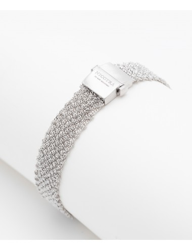 EXTRA DRY 1 CM Bracelet in Sterling Silver Rhodium plated