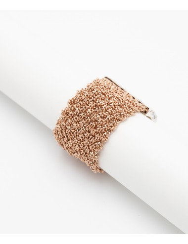 MESH Ring in Sterling Silver 14Kt. Rose gold plated