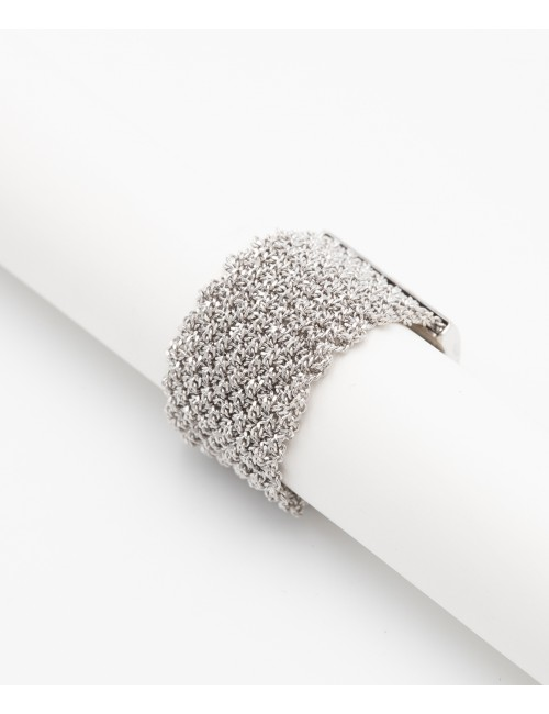 MESH Ring in Sterling Silver Rhodium plated