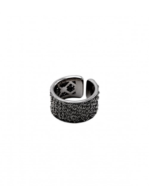 SPARKLE Ring in Sterling Silver Ruthenium gold plated