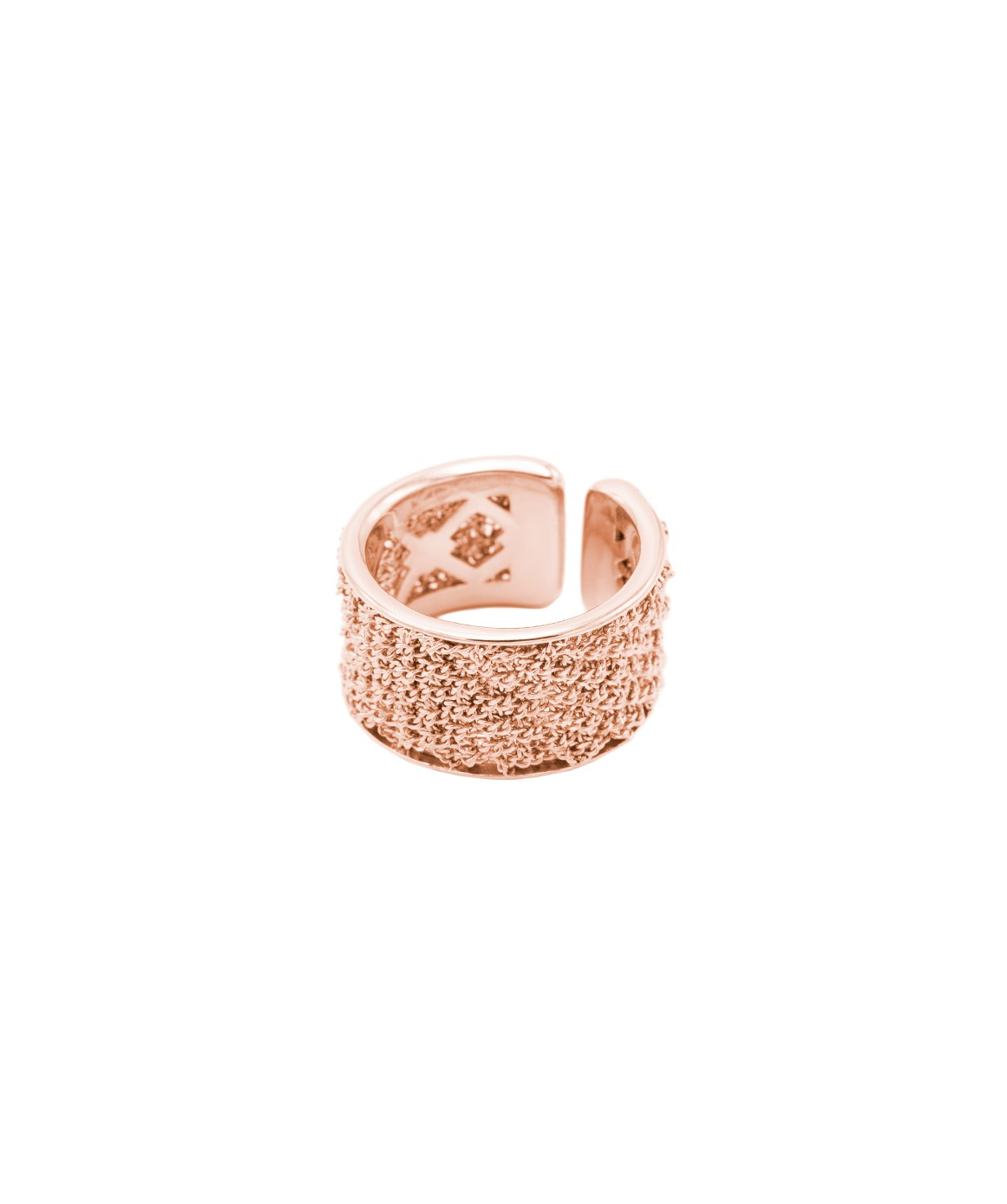 SPARKLE Ring in Sterling Silver 14Kt. Rose gold plated