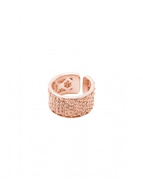 Anello SPARKLE in Argento 925 bagno oro Rosa 14 Kt.