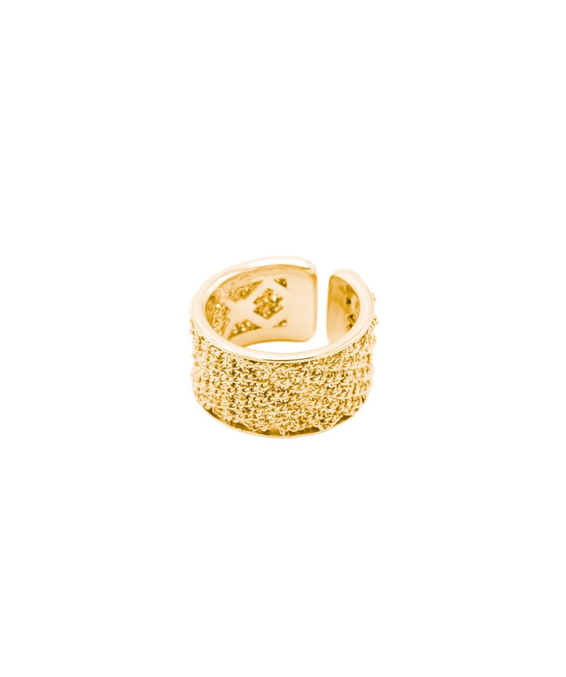 Anello SPARKLE in Argento 925 bagno oro Giallo 18 Kt.