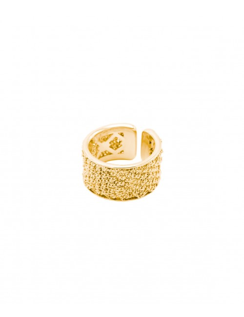 SPARKLE Ring in Sterling Silver 18Kt. Yellow gold plated