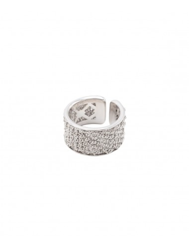 Rhodium plated sterling silver ring
