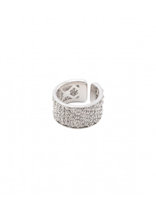 SPARKLE Ring in Sterling Silver Rhodium plated