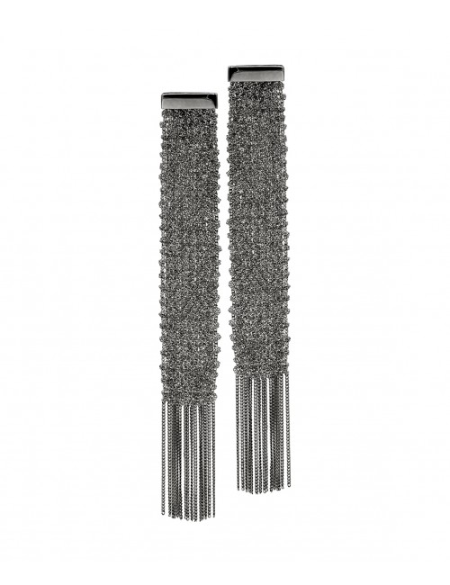 FLUTE Earring in Sterling Silver Ruthenium plated