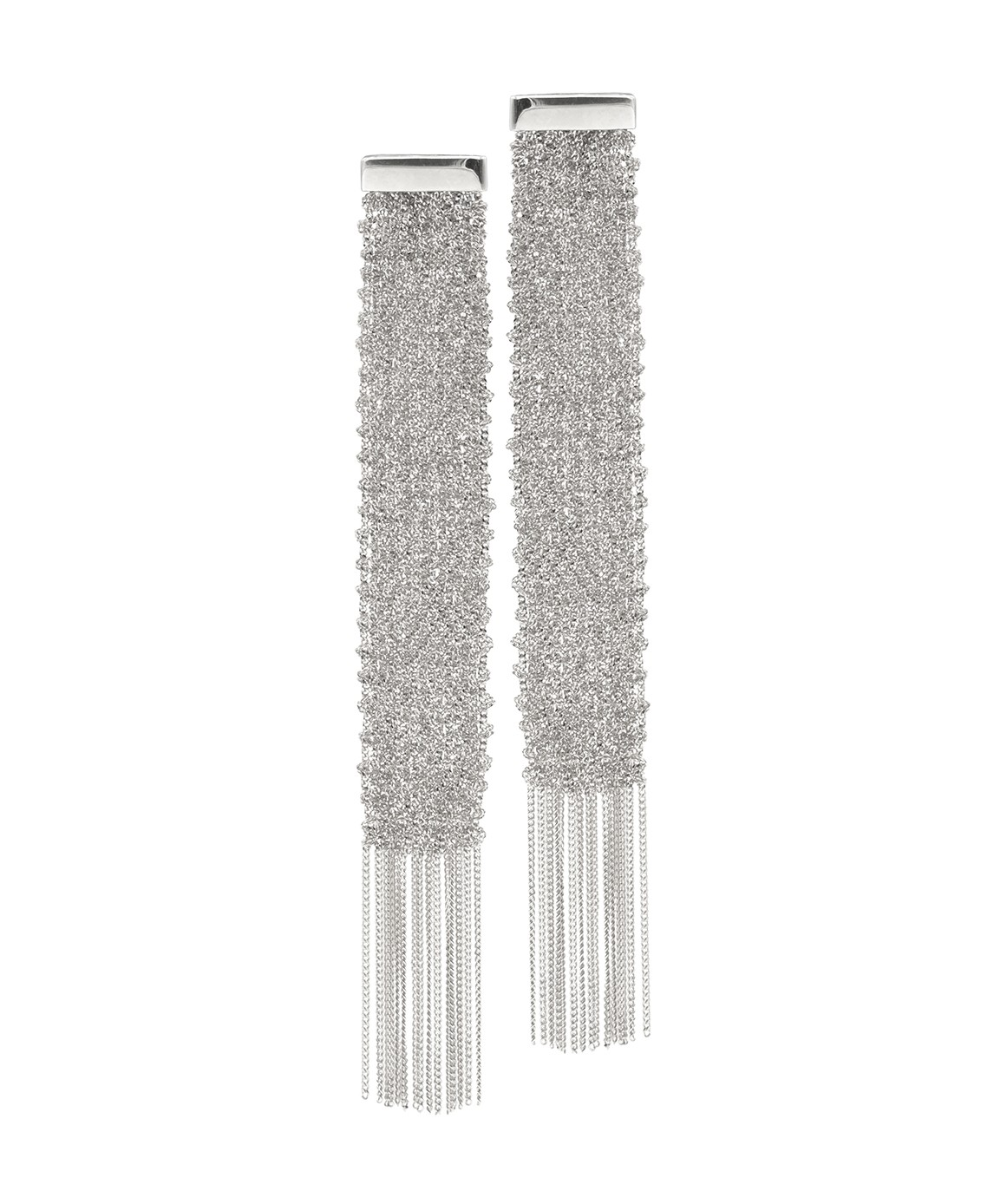FLUTE Earrings in Sterling Silver Rhodium plated