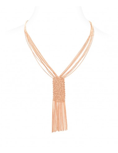 CUVEE Necklaces in Sterling Silver 14Kt. Rose gold plated