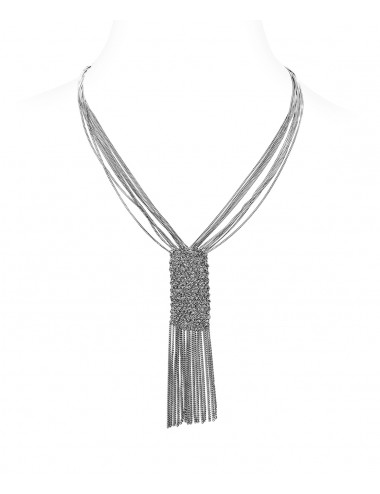 CUVEE Necklaces in Sterling Silver Ruthenium plated