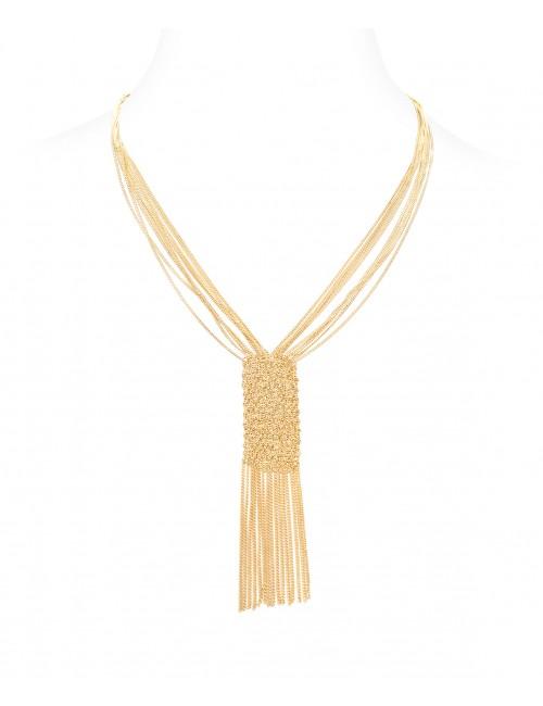 Collana CUVEE in Argento 925 bagno oro Giallo 18 Kt.
