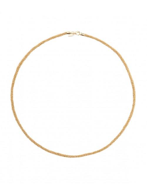 Collana BLANC in Argento 925 bagno oro Giallo 18Kt.