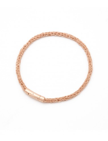 MILLESIMATO DOC Bracelet in Sterling Silver 14Kt. Rose gold plated