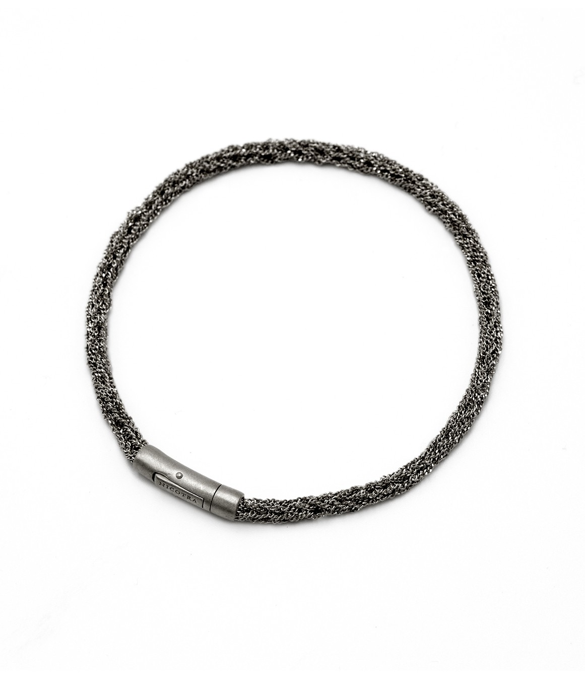 MILLESIMATO DOC Bracelet in Sterling Silver Ruthenium plated