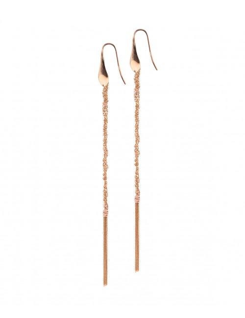 Orecchini PERLAGE in Argento 925 bagno oro Rosa 14Kt.
