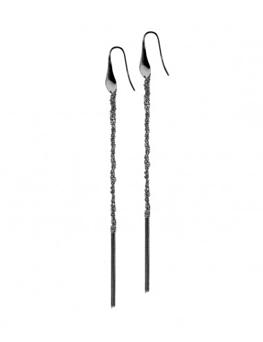 PERLAGE Earrings in Sterling Silver Ruthenium plated