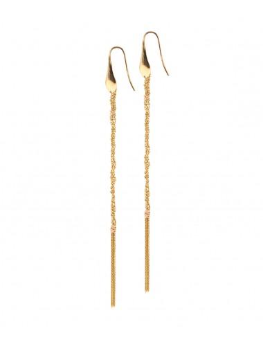 Orecchini PERLAGE in Argento 925 bagno oro Giallo 18Kt.
