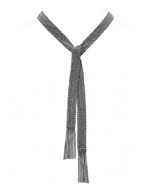 CHAMPAGNE Scarf in Sterling Silver Ruthenium plated
