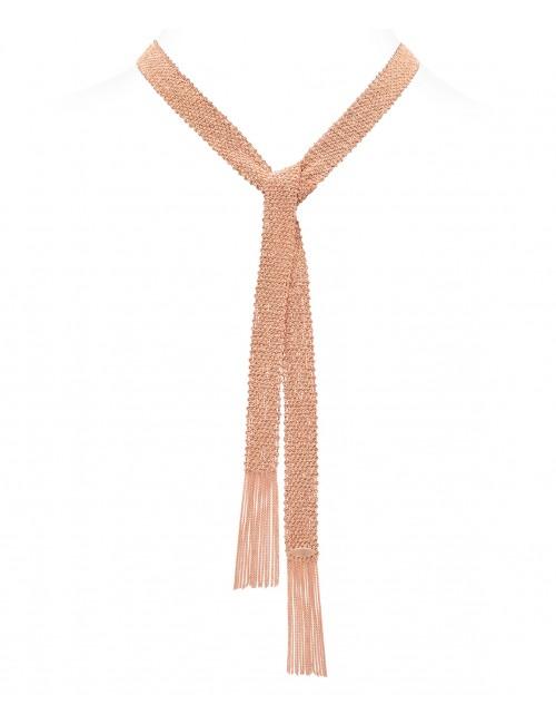 Sciarpa CHAMPAGNE in Argento 925 bagno oro Rosa 14Kt.