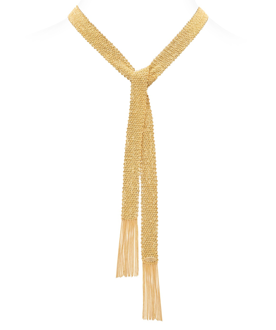 CHAMPAGNE Scarf in Sterling Silver 18Kt. Yellow gold plated
