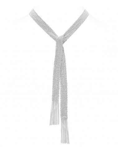 CHAMPAGNE Scarf in Sterling Silver Rhodium plated