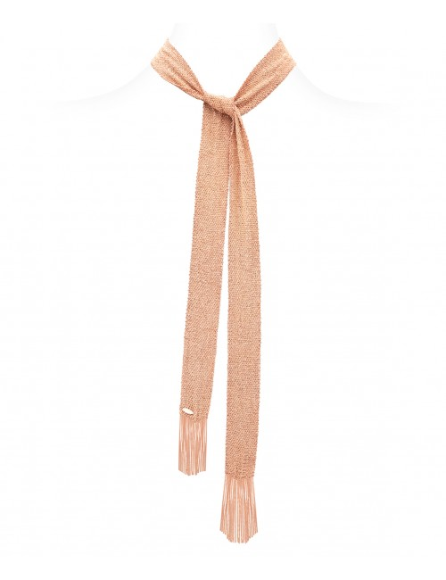 GRAND CRU Scarf in Sterling Silver 14Kt. Rose gold plated