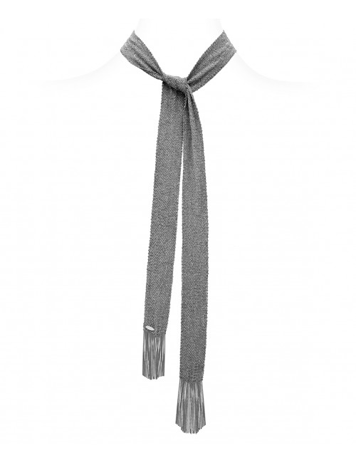 GRAND CRU Scarf in Sterling Silver Ruthenium plated