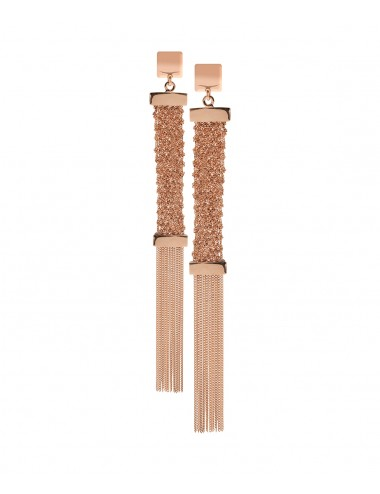 BRUT Earrings in Sterling Silver 14Kt. Rose gold plated