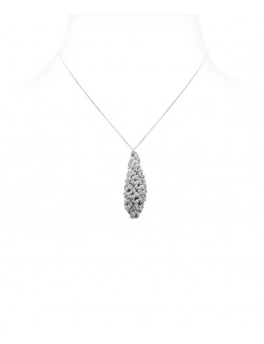 RHOMBUS PENDANT Necklaces in Sterling Silver Rhodium plated