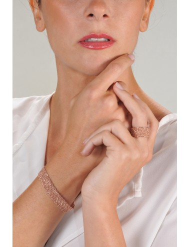 EXTRA DRY 1 CM Bracelet in Sterling Silver 14Kt. Pink Gold plated