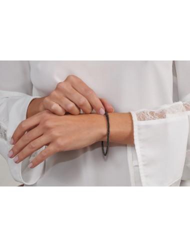 MILLESIMATO DOC Bracelet in Sterling Silver Ruthenium plated