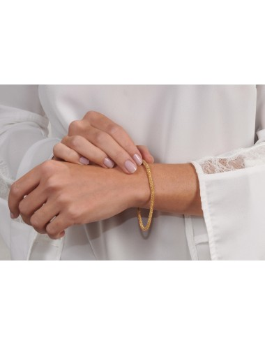 MILLESIMATO DOC Bracelet in Sterling Silver 18Kt. Yellow gold plated