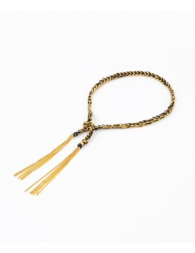 TWIST Bracelet in Sterling Silver 18Kt. Yellow gold plated. Fabric: Black