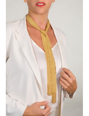 GRAND CRU Scarf in Sterling Silver 18Kt. Yellow gold plated