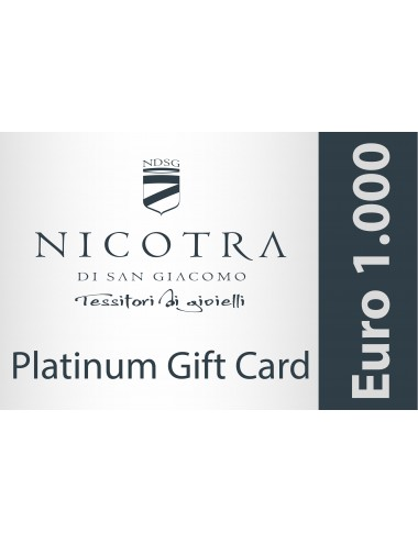 PLATINUM GIFT CARD 1.000€