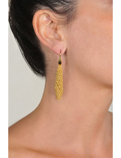 RHOMBUS Earrings in Sterling Silver 18Kt. Yellow gold plated