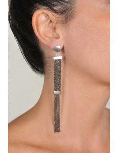 BRUT Earrings in Sterling Silver Ruthenium plated