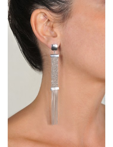 BRUT Earrings in Sterling Silver Rhodium plated