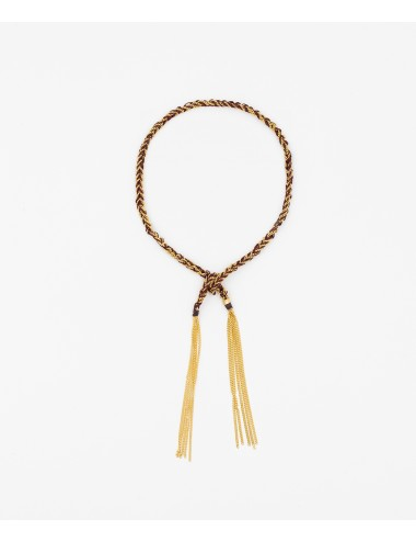 TWIST Bracelet in Sterling Silver 18Kt. Yellow gold plated. Fabric: Bordeaux
