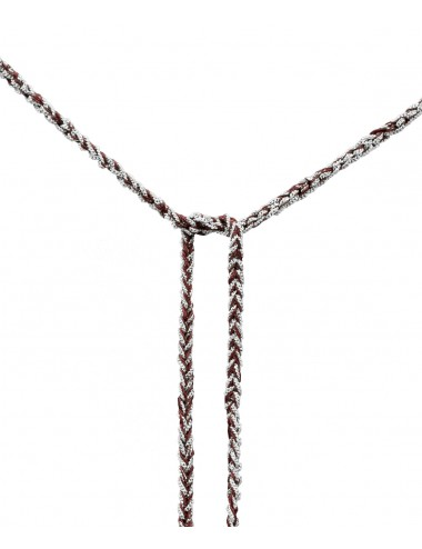 TWIST Necklaces in Sterling Silver Rhodium plated. Fabric: Bordeaux