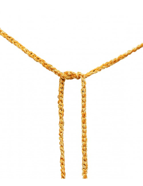 TWIST Necklaces in Sterling Silver 18Kt. Yellow gold plated. Fabric: Orange
