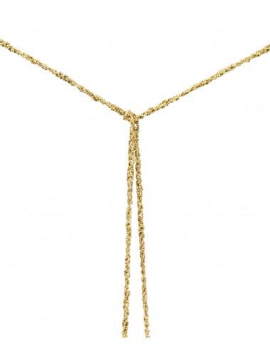 Collana MILLESIMATO in Argento 925 bagno oro Giallo 18Kt.