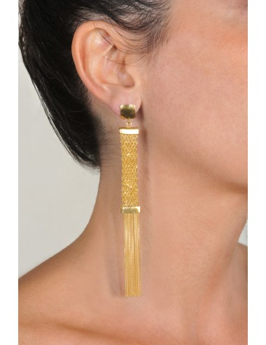 BRUT Earrings in Sterling Silver 18Kt. Yellow gold plated
