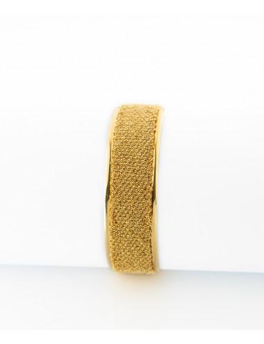Bracciale SCHIAVA 2CM in Argento 925 bagno oro Giallo 18 Kt.