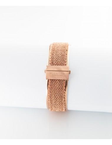 Bracciale SCHIAVA 2CM in Argento 925 bagno oro Rosa 14 Kt.