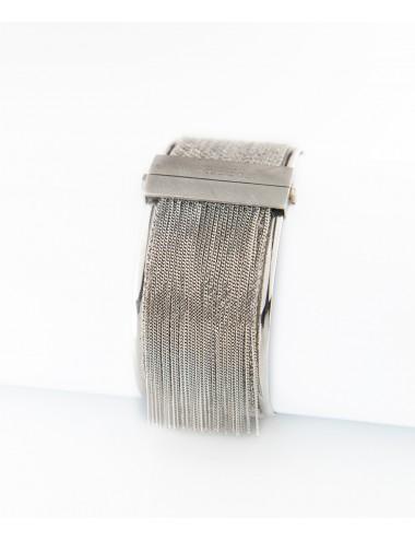 Bracciale SCHIAVA 3CM in Argento 925 Rodiato.