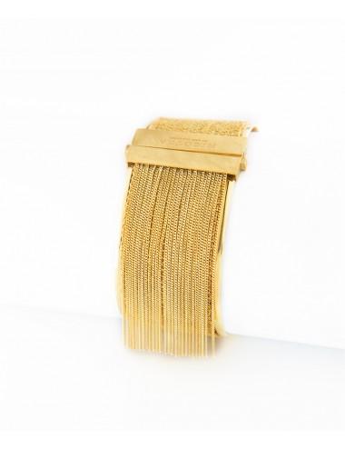 Bracciale SCHIAVA 3CM in Argento 925 bagno oro Giallo 18 Kt.