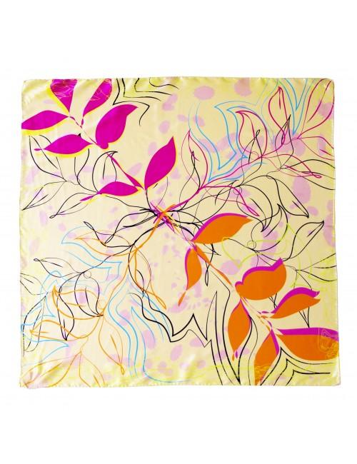 Flora in Orange 90x90cm